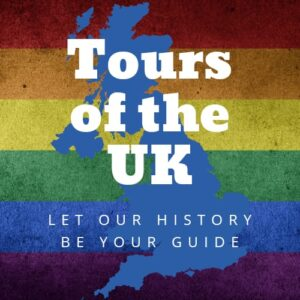 Tours of the UK Logo with Pride Background