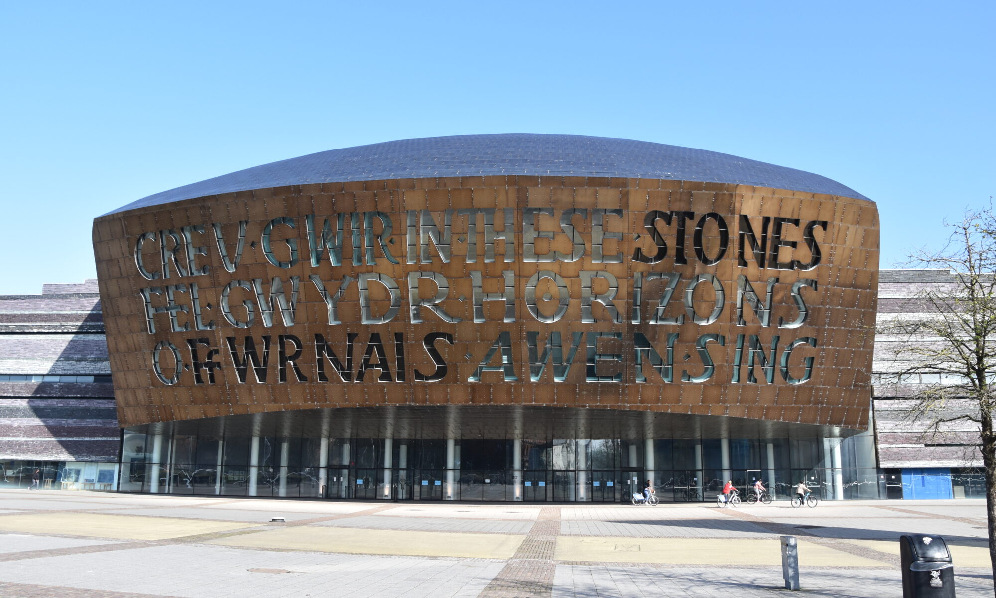 The Wales Millennium Centre in Cardiff Bay.